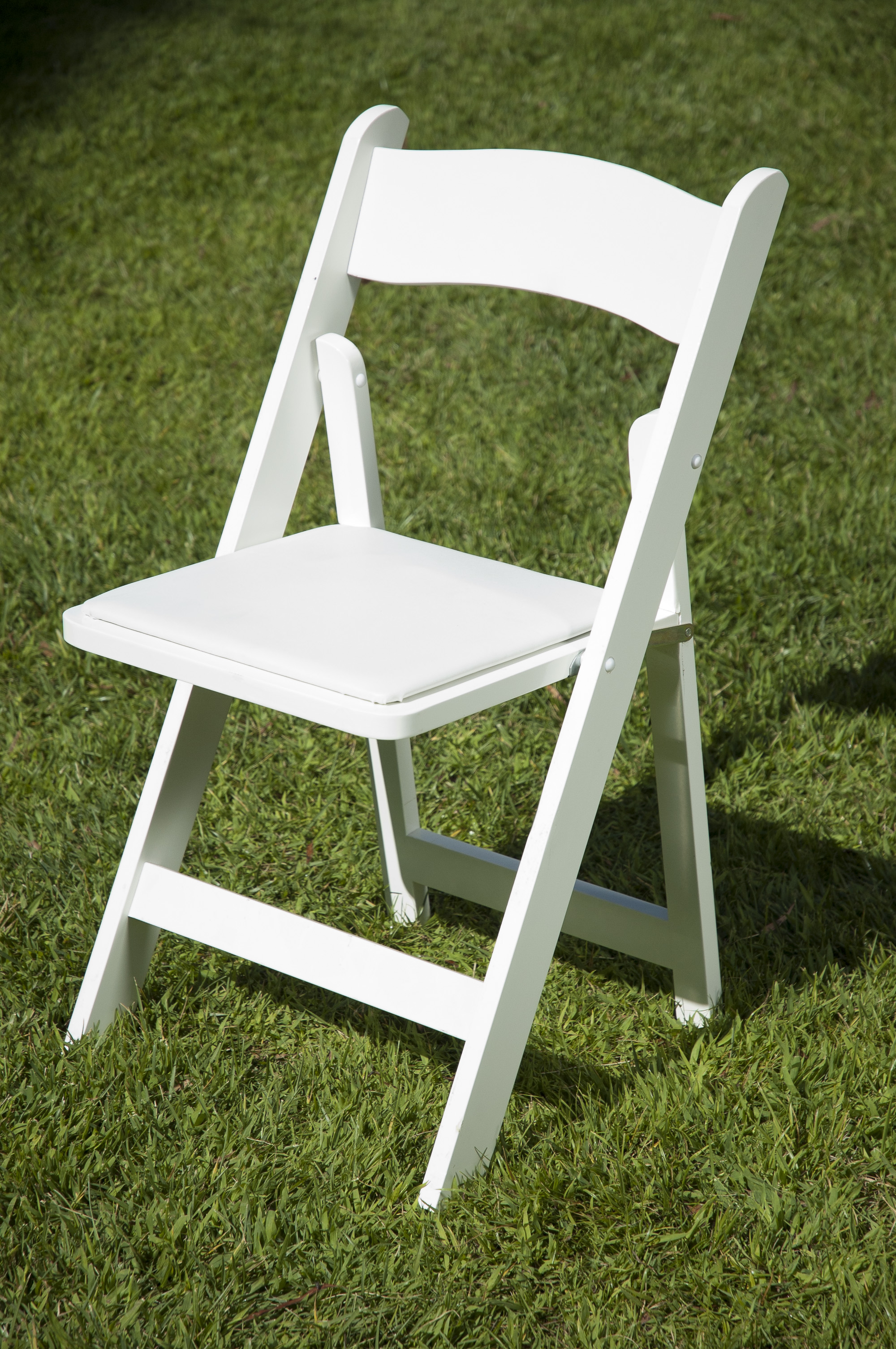 Luxury White Wooden Folding Chairs Elegant